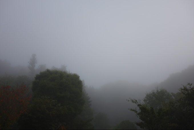 大子グリンヴィラを覆う濃霧