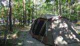 羽鳥湖高原レジーナの森でトルテュを張る
