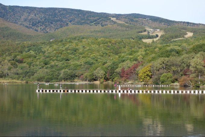 バラギ湖ボートハウス前の桟橋