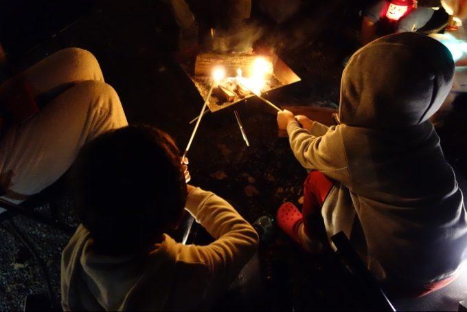 SG焚火BARギッパで焼きマシュマロ