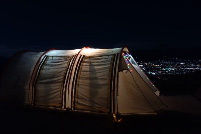 ほったらかしキャンプ場とカマボコテント2