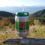 キャンプで美味しいビールが飲みたい!ハイネケンの樽生を試してみた
