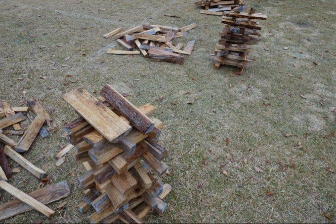 はじめての薪タワーは70cm
