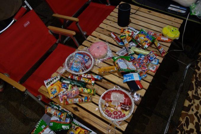 グリン券で千本釣りした結果のお菓子