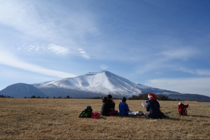 浅間山を眺めながら最高のランチタイム