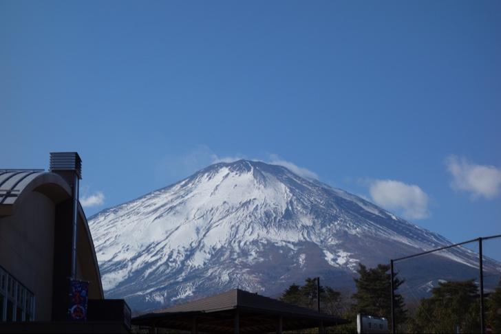 道の駅すばしりから眺める富士山