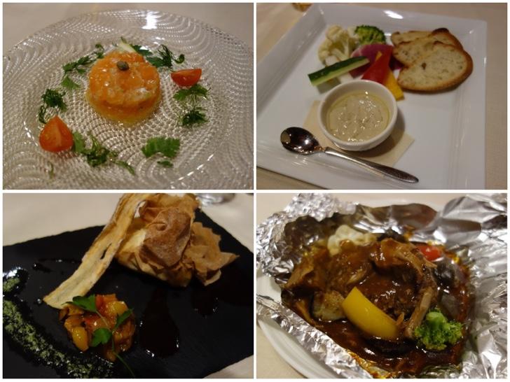 PICA山中湖ヴィレッジ1泊目のコース料理