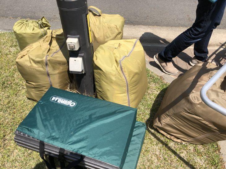 グリンヴィラで借りたテント一式