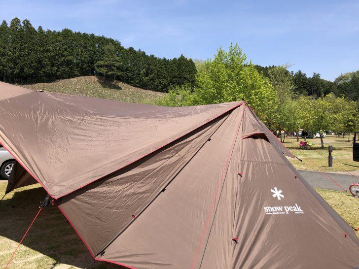 大子グリンヴィラ春のキャンプ大会でランドステーションを設営