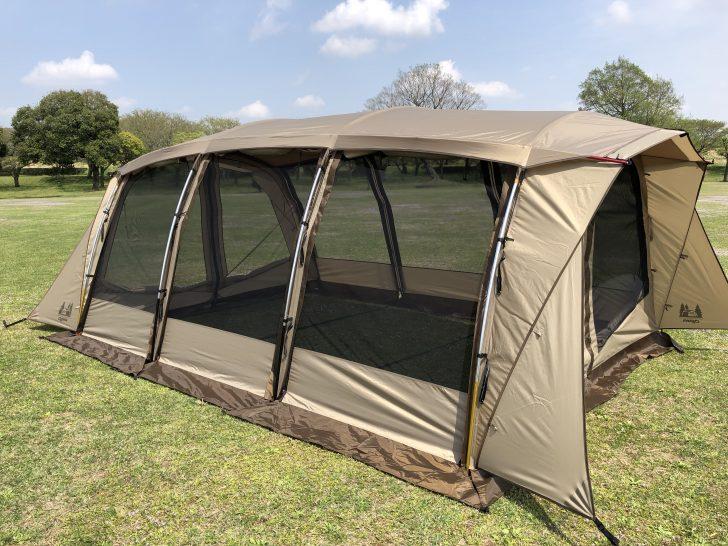ogawaのアーチ形テント「アポロン」を初張り