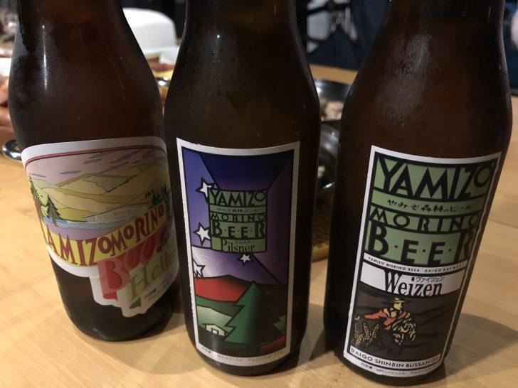 グリンヴィラの管理棟で買ったビール達