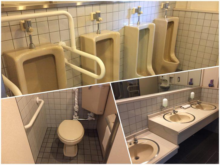 虹別オートキャンプ場のセンターハウスの男子トイレ