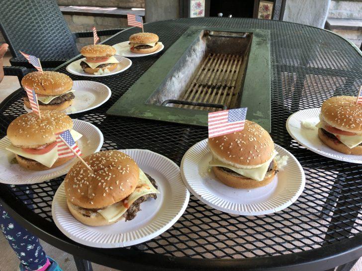 久しぶりのアメリカンバーガー作り