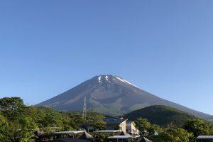 青空と富士山のコラボレーション