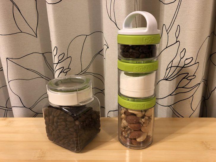 コーヒー豆を入れるgostakとフレッシュロック