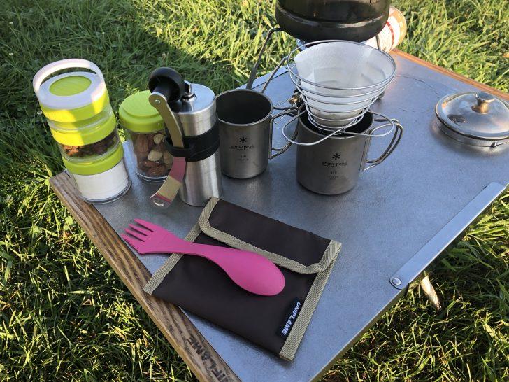 キャンプの朝は毎日挽きたてコーヒー
