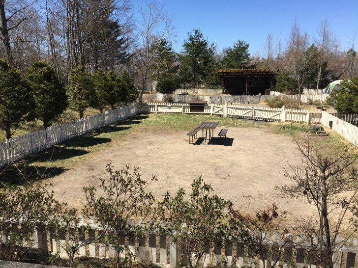 北軽井沢スウィートグラスのガーデン広々サイト