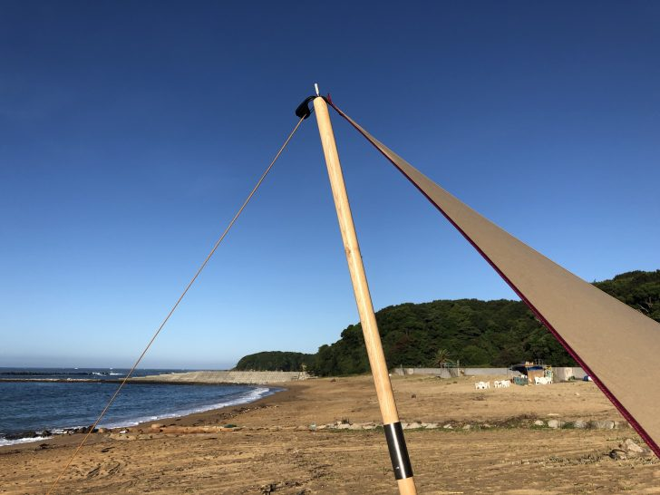 木製テントポール240とムササビウイング