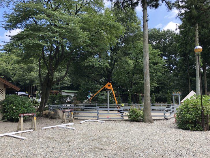 キャンプアンドキャビンズ那須高原で土砂降りキャンプ