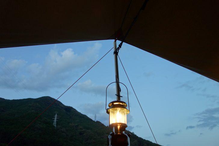キャンプinn海山でワンマントルランタンを灯す