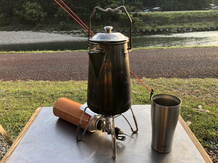 三重キャンプ旅は毎日朝コーヒーを堪能