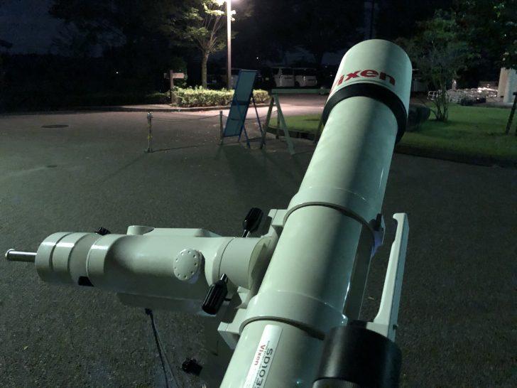 Vixenの大きな天体望遠鏡で天体観測会