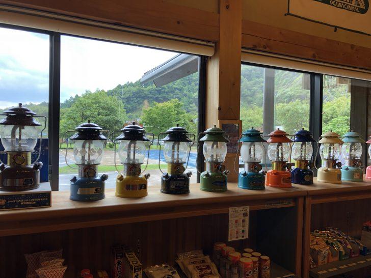 青川峡キャンピングパークのランタンコレクション