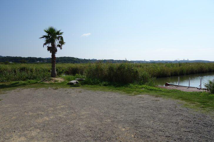 伊勢志摩エバーグレイズのテントサイトは日陰がほとんどない