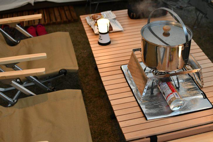 アジャスタブルグリルと大鍋で静岡おでん作り