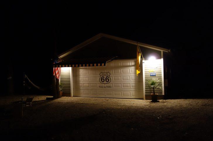 C&C那須高原のガレージサイトで迎える夜
