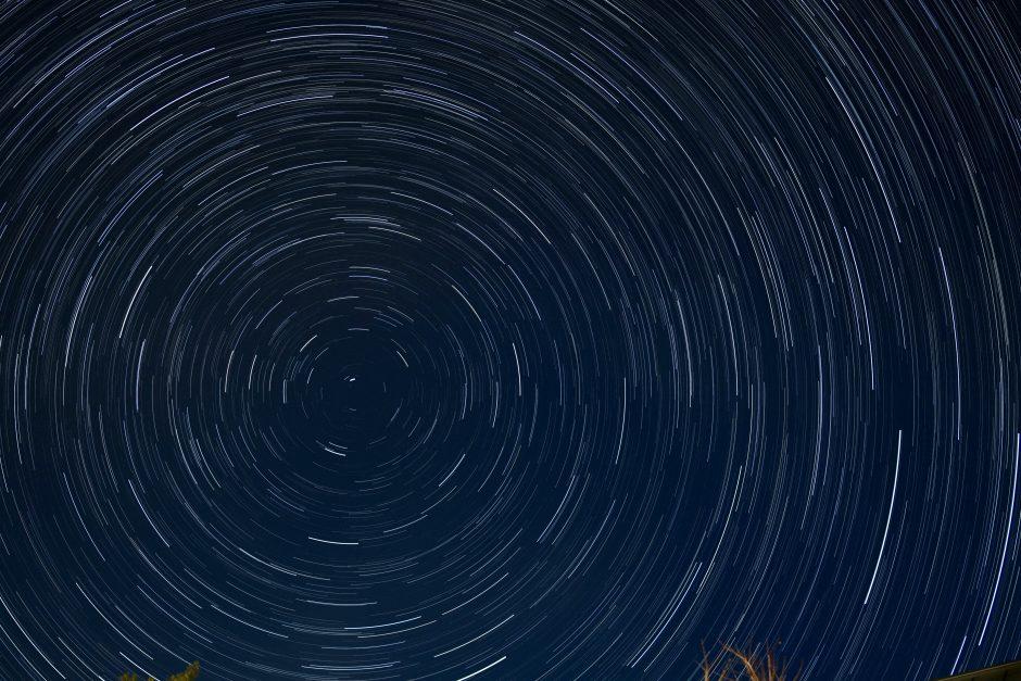 はじめて撮った星空ぐるぐる写真