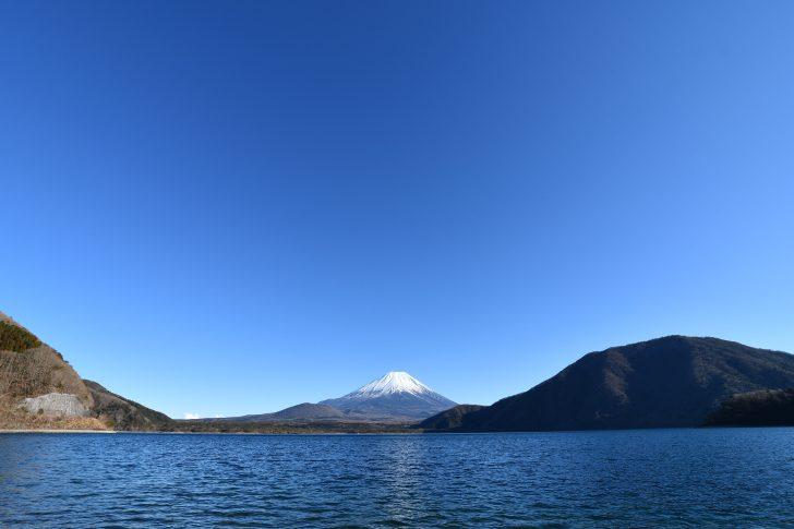 浩庵キャンプ場(本栖湖と富士山)