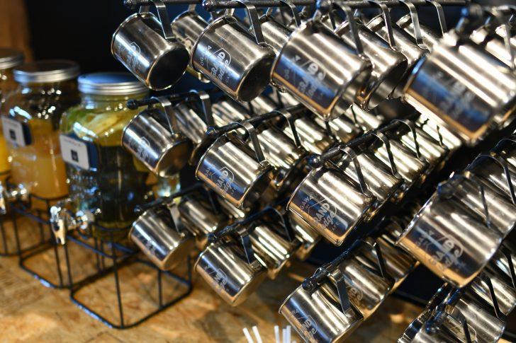 GRAND lodge CAFEで使われているマグカップもogawa製品