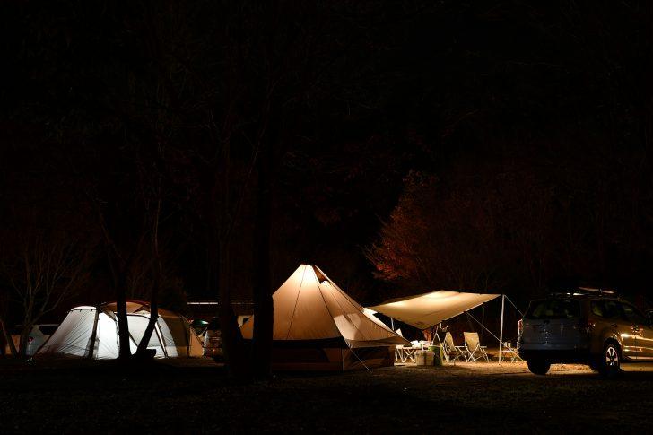 冬の大子グリンヴィラでテント泊