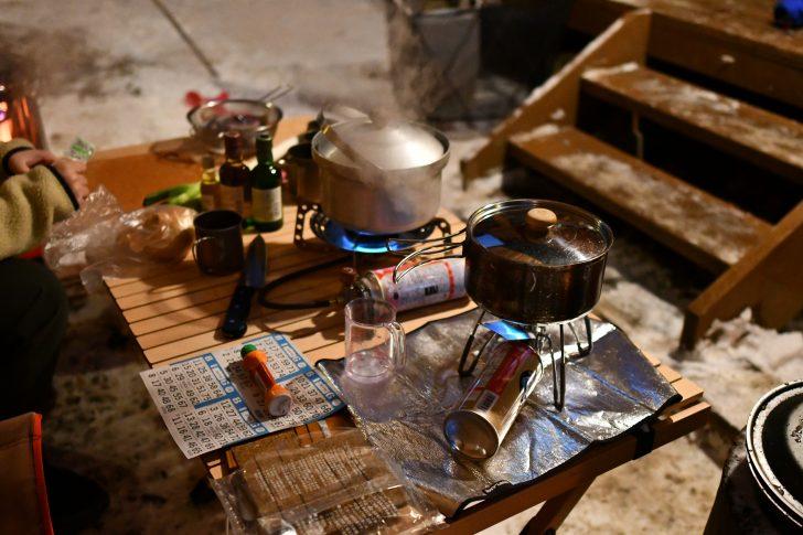 冬キャンプでガスストーブを使うとドロップダウンが発生