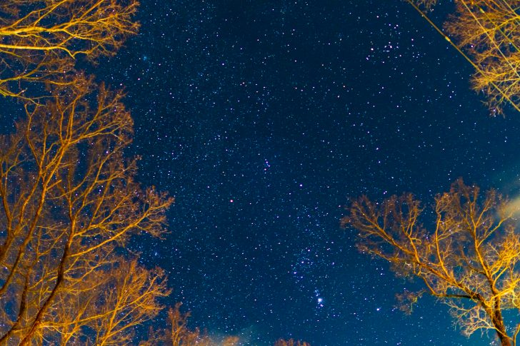 C&C那須高原で星空撮影の練習中
