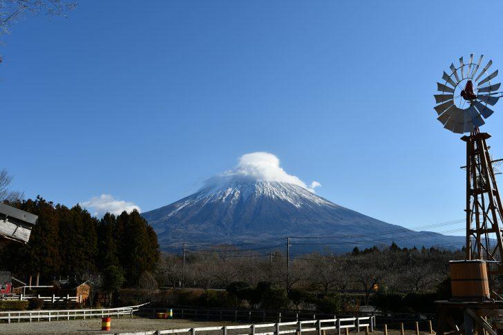 まかいの牧場から眺める富士山
