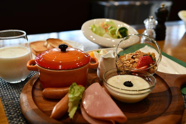 PICA Fujiyamaのレストランでいただく朝ご飯