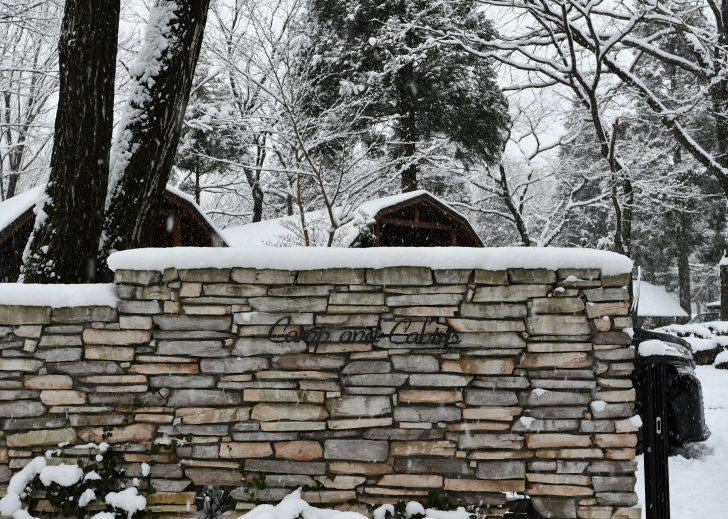雪の降り積もる年末年始のC&C那須高原