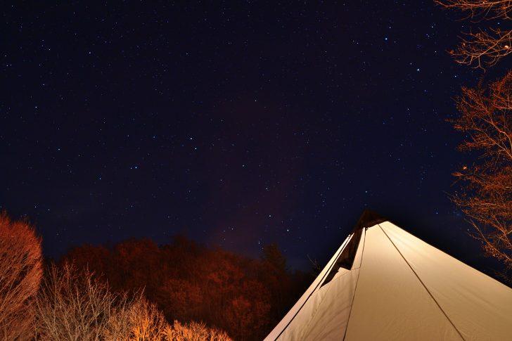 グリンヴィラでグロッケと星空を撮影