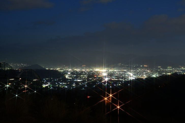 パインウッドでクロスフィルター付きの夜景撮影