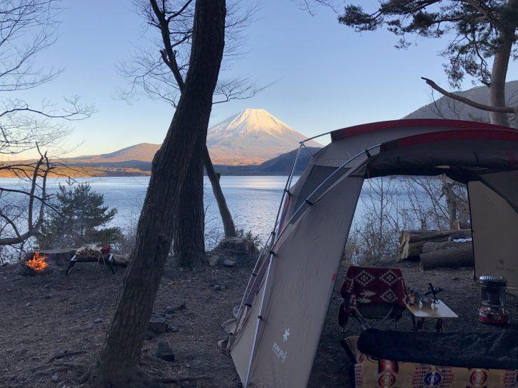 ソロキャンプと焚き火と富士山