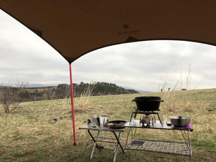 無印良品カンパーニャ嬬恋キャンプ場で作ったロースタイルキッチン