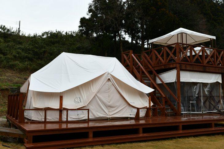 THE FARMに設置されたノルディスクの大型テント「ヴァナヘイム」