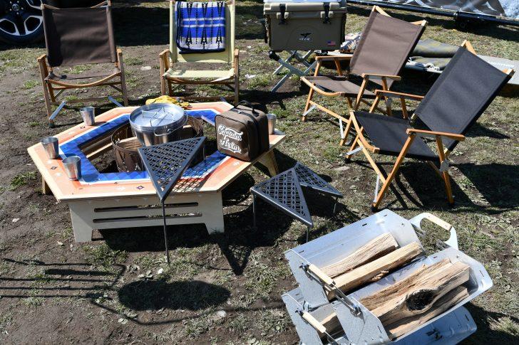 TOYOTAブースに設置されたキャンプサイト例