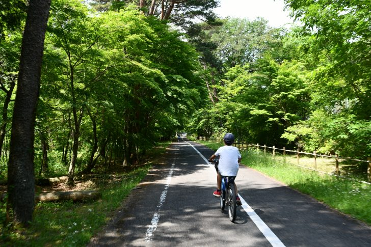 千本松牧場でサイクリング