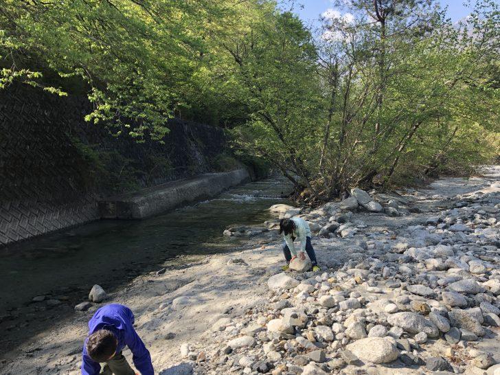 コビットの近くを流れる小川を散策