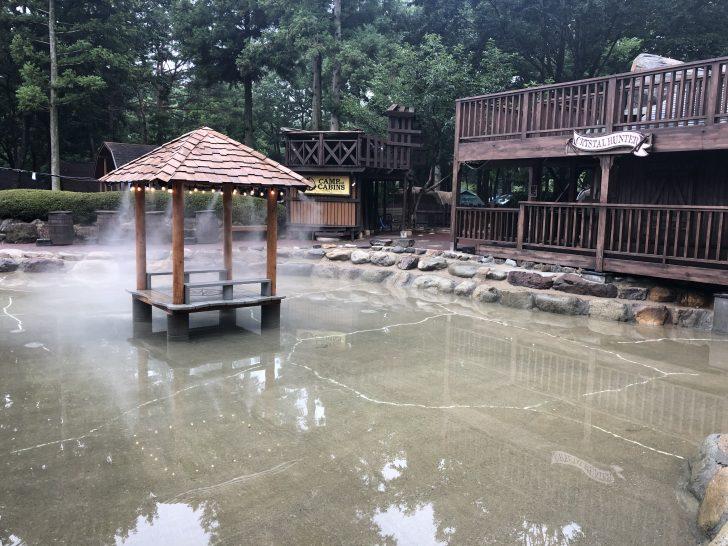 じゃぶじゃぶ池の橋がなくなり新クリスタルハンターが完成
