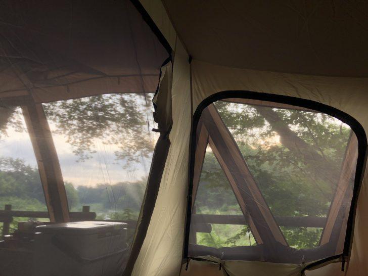 トルテュProのインナーテントから眺める朝の景色