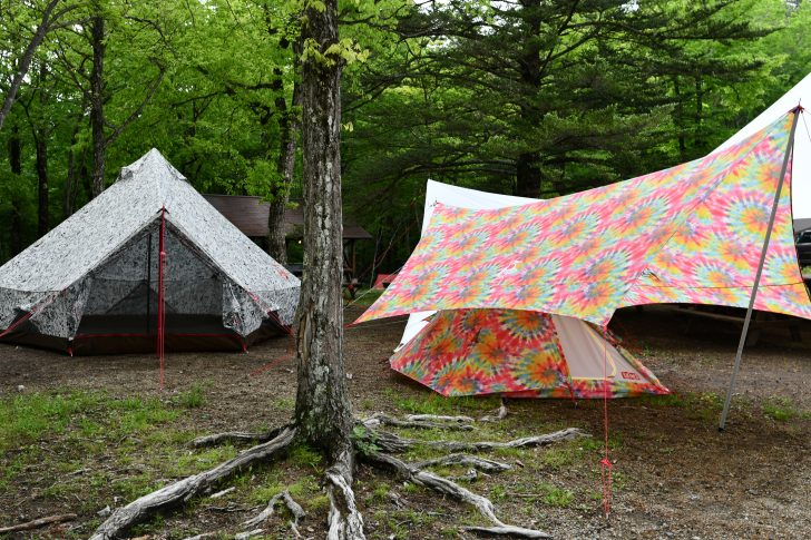 チャムスのテントやタープは野外フェス向き